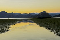 Stunning golden sunset at Skadar Lake !